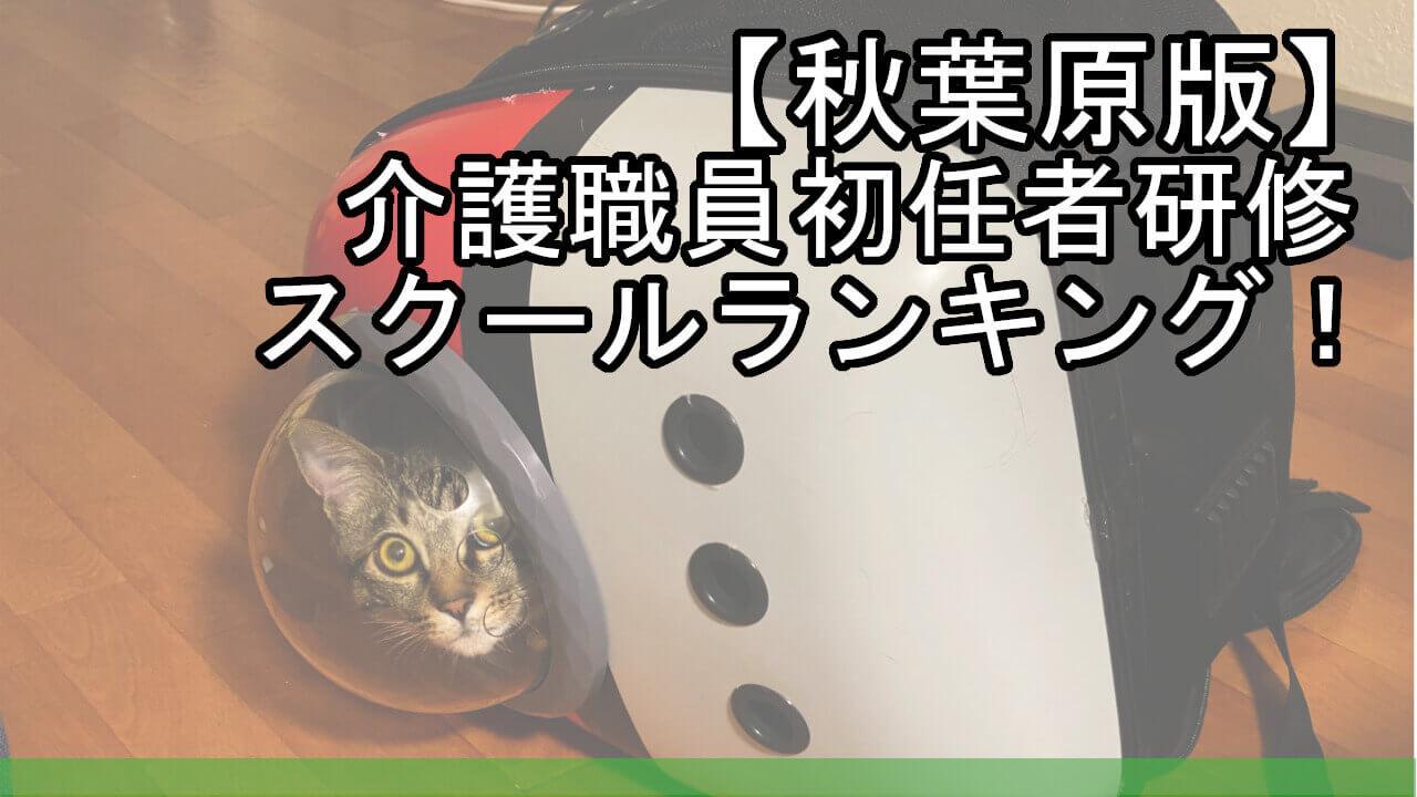 【秋葉原版】介護職員初任者研修スクールランキング!安くておすすめは?